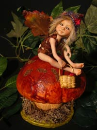 Fairy Tale Aki on the Mushroom