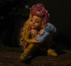 Ooak Baby Fairy Melina and Teddy Bear - Gallery
