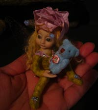Ooak Baby Fairy Melina and Teddy Bear