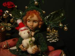 Ooak Posable Fairy Tale Noel and Teddy Bear - Gallery