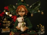 Ooak Posable Fairy Tale Noel and Teddy Bear