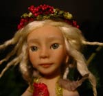 Ooak Fairy Fae Farah on the Mushroom - on ebay $ 120.00