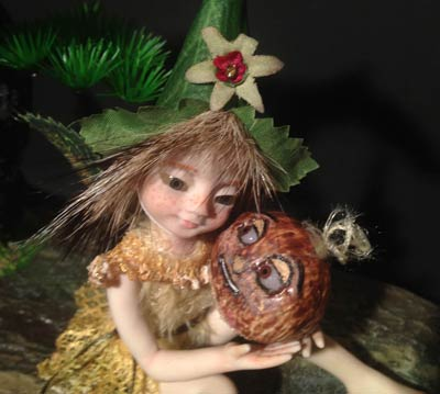 Ooak Baby Fairie Pixie Malika and the sweet Chestnut - Gallery