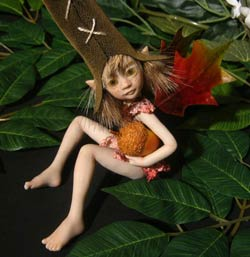 Ooak Baby Fairie Pixie Misha and the Acorn - Gallery