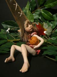 Ooak Baby Fairie Pixie Misha and the Acorn