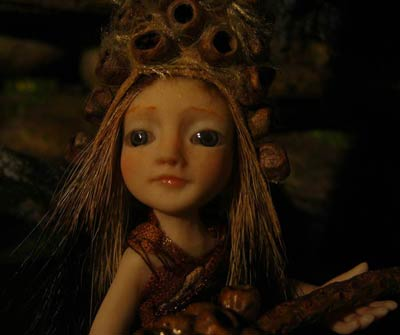 Ooak Pixie Ranien and magic Seeds - Gallery