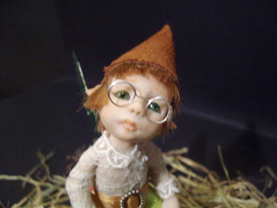 Baby Faerie Elf Tippy the apprentice Tailor and the needle in the haystack