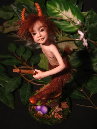 Ooak Thomas young Satyr with Flute - Gallery